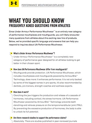 FAQs about Under Armour