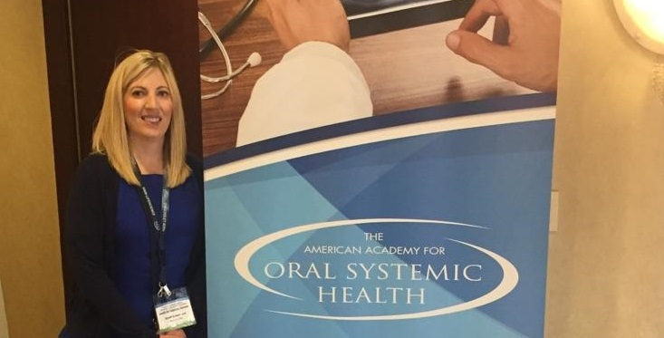 Team member Sarah Graumann explains the importance of oral-systemic health.