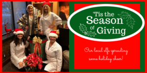 Our office is spreading holiday cheer by giving to others.