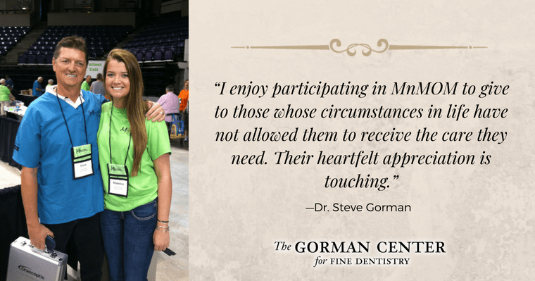 Dr. Gorman's quote about participating in the Mission of Mercy